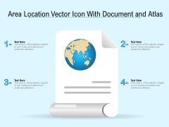 Area Location Vector Icon With Document And Atlas Ppt PowerPoint Presentation Icon Images PDF