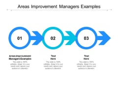 Areas Improvement Managers Examples Ppt PowerPoint Presentation Icon Design Templates Cpb