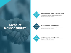 Areas Of Responsibility Ppt PowerPoint Presentation Pictures Skills