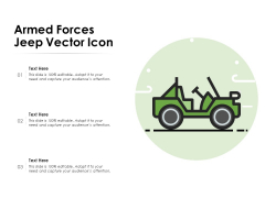 Armed Forces Jeep Vector Icon Ppt PowerPoint Presentation Styles Slides PDF