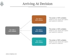 Arriving At Decision Ppt PowerPoint Presentation Template