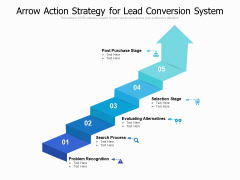Arrow Action Strategy For Lead Conversion System Ppt PowerPoint Presentation Gallery Graphics PDF