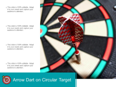 Arrow Dart On Circular Target Ppt Powerpoint Presentation Icon Objects