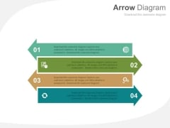 Arrow Diagram For Global Business Strategy Powerpoint Template