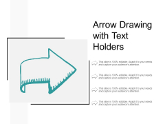 Arrow Drawing With Text Holders Ppt PowerPoint Presentation Icon Influencers