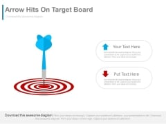Arrow Hits On Target Board Powerpoint Slides