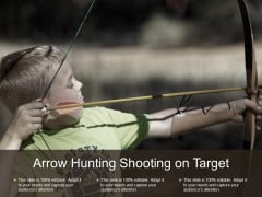 Arrow Hunting Shooting On Target Ppt PowerPoint Presentation Layouts Show