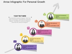 Arrow Infographic For Personal Growth Powerpoint Template