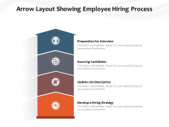 Arrow Layout Showing Employee Hiring Process Ppt PowerPoint Presentation Layouts Display