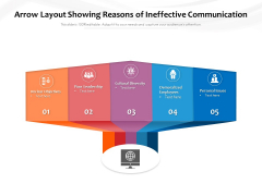 Arrow Layout Showing Reasons Of Ineffective Communication Ppt PowerPoint Presentation Rules PDF