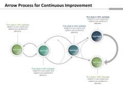 Arrow Process For Continuous Improvement Ppt PowerPoint Presentation Infographics Layouts PDF