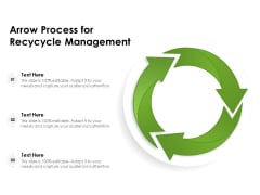 Arrow Process For Recycle Management Ppt PowerPoint Presentation Infographics Brochure PDF
