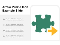 Arrow Puzzle Icon Example Slide Ppt Powerpoint Presentation Icon Introduction