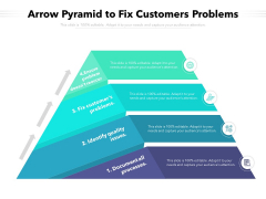 Arrow Pyramid To Fix Customers Problems Ppt PowerPoint Presentation File Clipart Images PDF