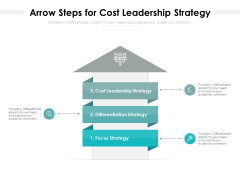 Arrow Steps For Cost Leadership Strategy Ppt PowerPoint Presentation Gallery Icon PDF