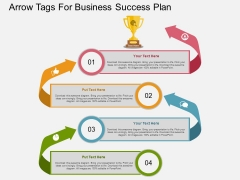 Arrow Tags For Business Success Plan Powerpoint Template