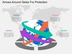 Arrows Around Globe For Protection Powerpoint Templates