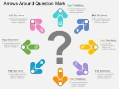 Arrows Around Question Mark Powerpoint Templates
