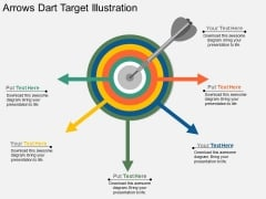 Arrows Dart Target Illustration Powerpoint Template