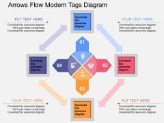 Arrows Flow Modern Tags Diagram Powerpoint Template
