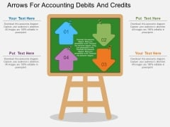 Arrows For Accounting Debits And Credits Powerpoint Template