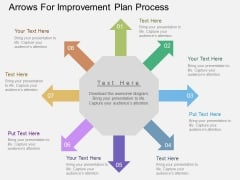 Arrows For Improvement Plan Process Powerpoint Templates