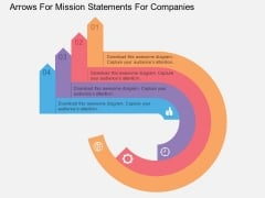 Arrows For Mission Statements For Companies Powerpoint Template
