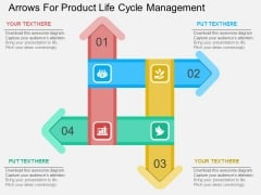 Arrows For Product Life Cycle Management Powerpoint Template