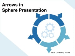 Arrows In Sphere Presentation Infographic Gears Ppt PowerPoint Presentation Complete Deck