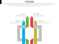 Arrows Matrix For Business Vision Analysis Powerpoint Slides