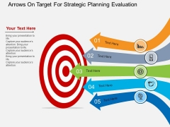 Arrows On Target For Strategic Planning Evaluation Powerpoint Template