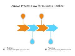 Arrows Process Flow For Business Timeline Ppt PowerPoint Presentation File Portrait PDF