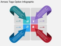 Arrows Tags Option Infographic Powerpoint Template