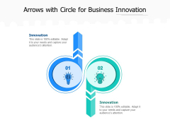Arrows With Circle For Business Innovation Ppt PowerPoint Presentation Styles Format PDF