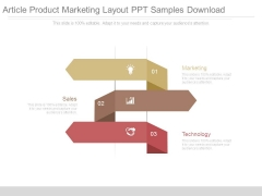Article Product Marketing Layout Ppt Samples Download