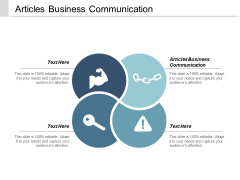 Articles Business Communication Ppt Powerpoint Presentation Gallery Guidelines Cpb