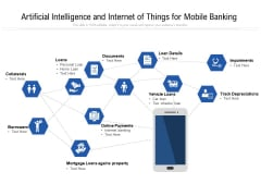 Artificial Intelligence And Internet Of Things For Mobile Banking Ppt PowerPoint Presentation Icon Vector PDF