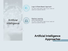 Artificial Intelligence Approaches Learning Ppt PowerPoint Presentation Inspiration Skills