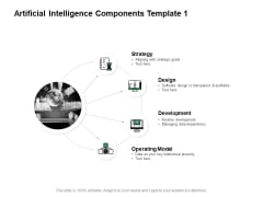 Artificial Intelligence Components Strategy Development Ppt PowerPoint Presentation Summary Maker