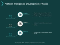 Artificial Intelligence Development Phases Ppt PowerPoint Presentation Inspiration Example
