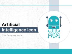 Artificial Intelligence Icon Brain Gear Ppt PowerPoint Presentation Complete Deck