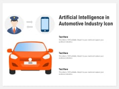 Artificial Intelligence In Automotive Industry Icon Ppt PowerPoint Presentation Summary Slide