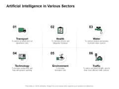 Artificial Intelligence In Various Sectors Ppt PowerPoint Presentation Gallery Mockup