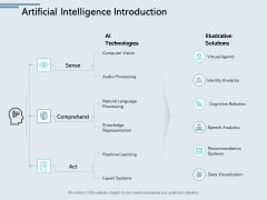 Artificial Intelligence Introduction Processing Ppt PowerPoint Presentation Styles Picture
