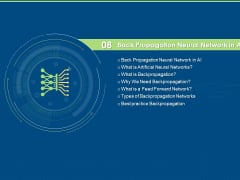 Artificial Intelligence Machine Learning Deep Learning Back Propagation Neural Network In AI Ppt PowerPoint Presentation Layouts Model PDF