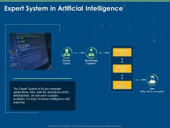 Artificial Intelligence Machine Learning Deep Learning Expert System In Artificial Intelligence Ppt PowerPoint Presentation File Layout Ideas PDF