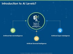 Artificial Intelligence Machine Learning Deep Learning Introduction To AI Levels Ppt PowerPoint Presentation Infographics Layout Ideas PDF