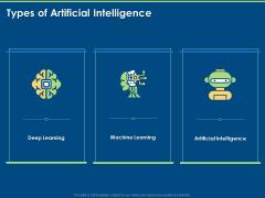 Artificial Intelligence Machine Learning Deep Learning Types Of Artificial Intelligence Ppt PowerPoint Presentation Portfolio Show PDF