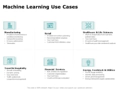 Artificial Intelligence Machine Learning Use Cases Ppt Styles Slide PDF