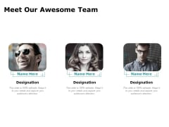 Artificial Intelligence Meet Our Awesome Team Ppt Portfolio Background PDF
